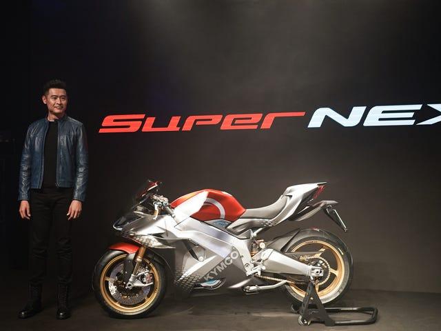 Ταϊβανέζος κατασκευαστής σκούτερ Kymco δείχνει την σοβαρή του πλευρά με το 150 MPH Electric Superbike