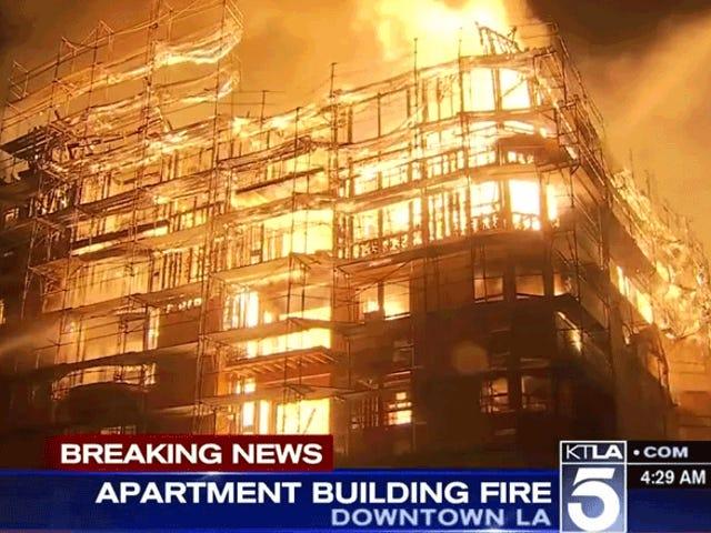 Multiple Freeways Closed As Huge Fire Rages In LA