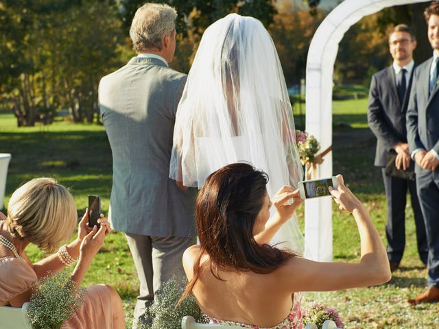 Put Down Your Phone During a Wedding Ceremony