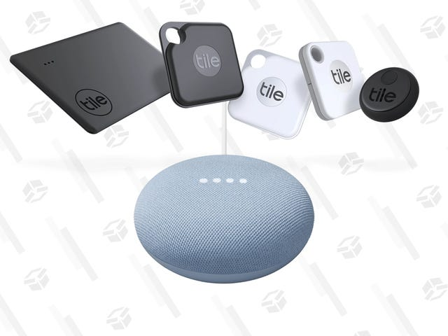 Lazy Weekend? Ask Google to Find Your Keys for You With These Tile + Nest Mini Bundle Deals