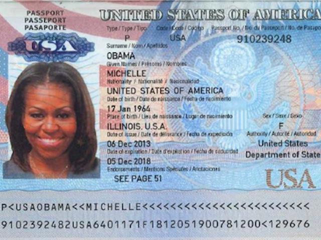 Điều này bị cáo buộc rò rỉ Michelle Obama hộ chiếu trông giả như địa ngục