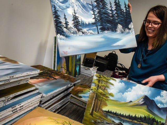 Found: All the happy little Bob Ross paintings