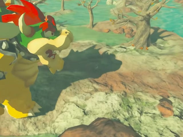 It's Mario And Bowser In Breath Of The Wild