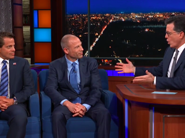 It's Avenatti vs. The Mooch as the Trump sideshow hits The Late Show