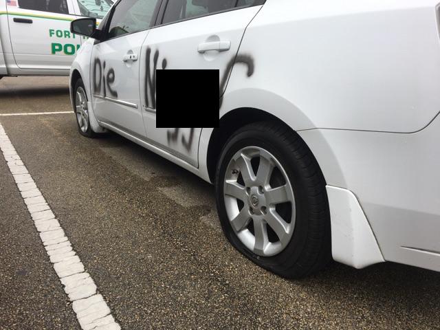 'Die N--ger': Fort Hood Soldier's Car Vandalized