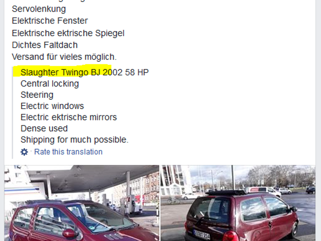 So I joined this German Twingo owners facebook group and...