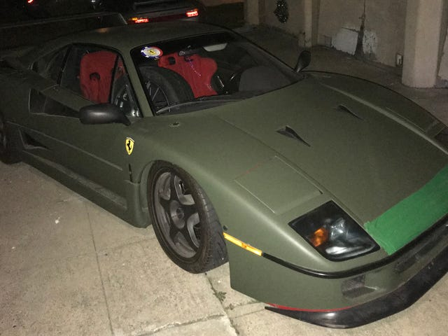 Somebody Street Parks Their Ferrari F40