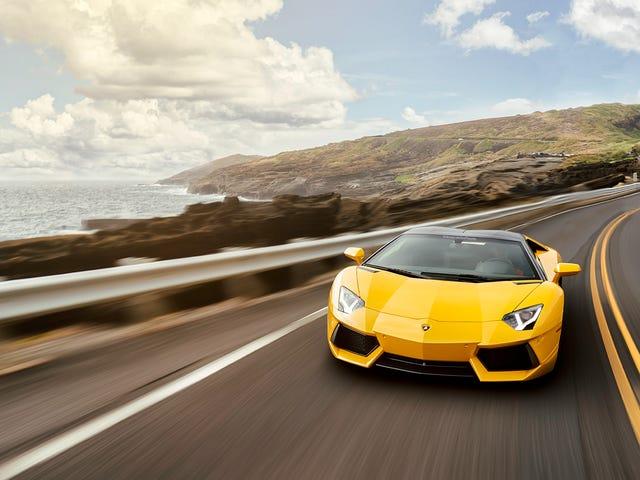 Votre papier peint Lamborghini Aventador ridiculement impressionnant est arrivé