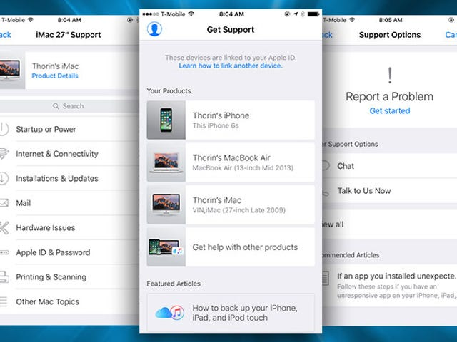 Le support Apple pour iPhone simplifie les discussions avec le support technique Apple