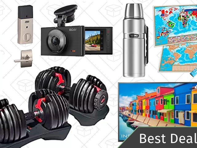 Saturday's Best Deals: Bowflex Dumbbells, Schlage Deadbolt, Dash Cam, and More