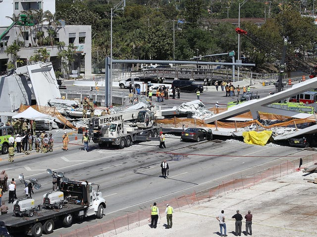 Florida Pedestrian Bridge Constructed Barely A Week Ago Collapses, Killing Multiple People