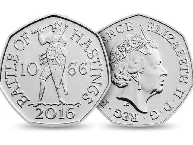 Por que las monedas de 50 peniques tienen forma de heptágono