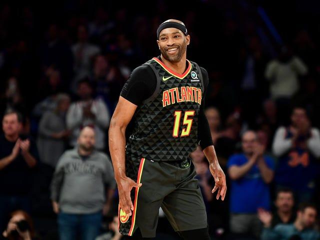 Vince 'Back in My Day' Carter bliver 1. spiller i NBA-historien til at spille i fire forskellige årtier