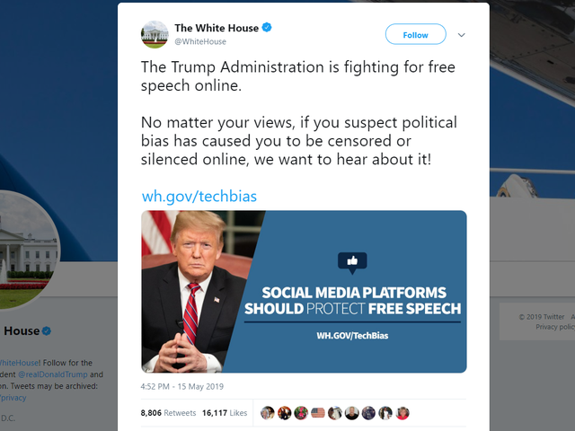 Trump Admin Creates Web Portal for Supporters to Complain About Getting Banned on Social Media
