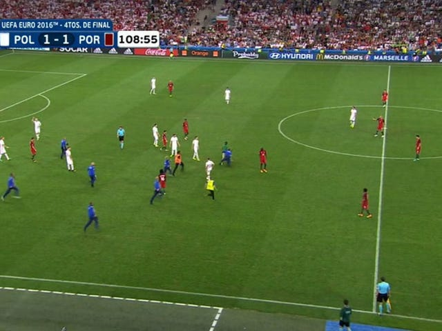 Sahada Idiot Euro 2016 Çeyrek Finalinde