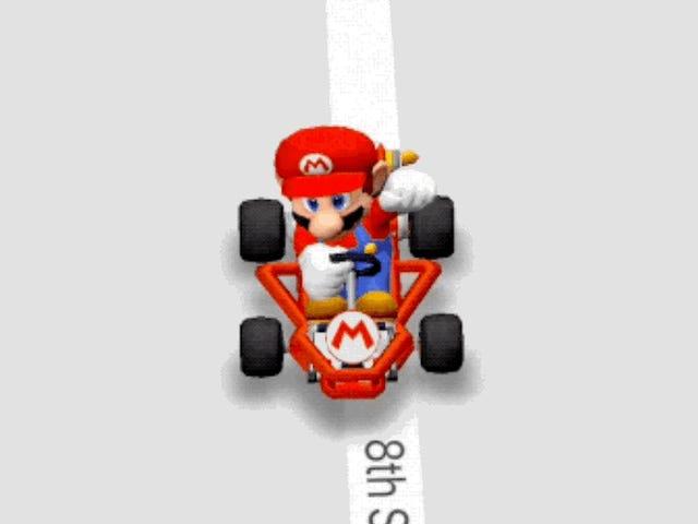 Hoe Google Maps in Mario Kart te veranderen