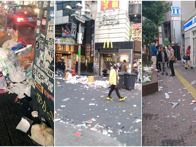 Shibuya Trashed After Halloween So Volunteers Clean Up