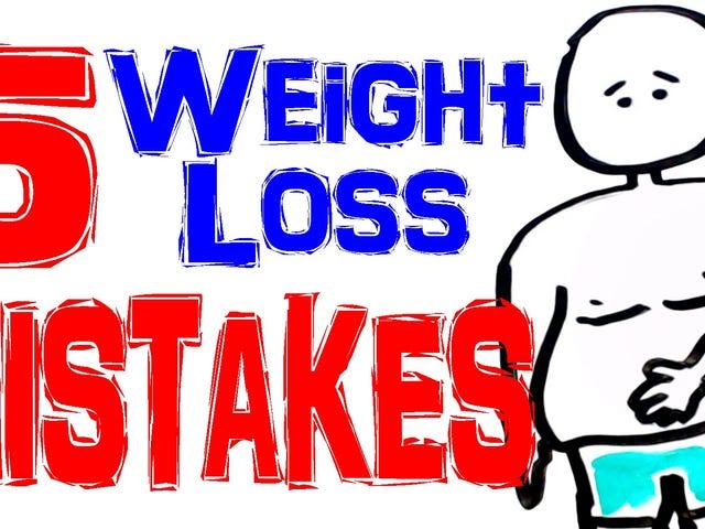 Cinco de los errores más comunes que cometen las personas al intentar bajar de peso