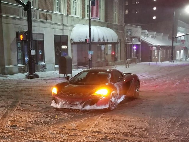 Driving A $265,000 McLaren In Snow Didn't Work Out