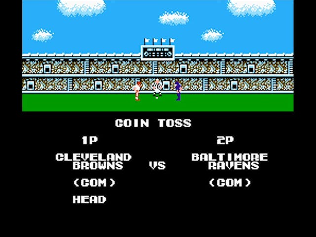 Browns. Ravens. Tecmo Super Bowl.