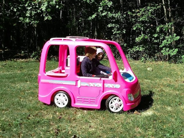 My Little Hippie: The Barbie Dream Camper Is a Working Ride-On With a Full Kitchen