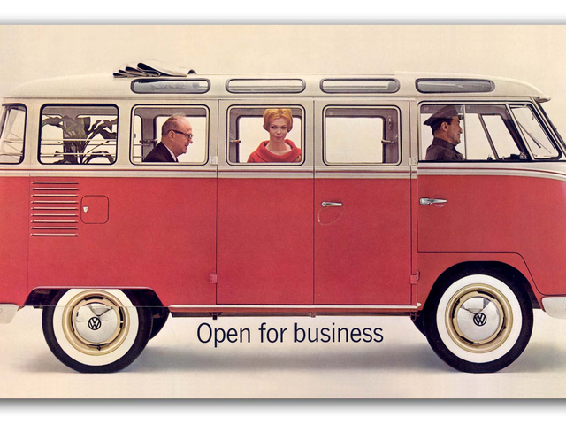 Look How Brilliant This Old Volkswagen Bus Brochure Is And I Swear That's The Redhead From Mad MenThere