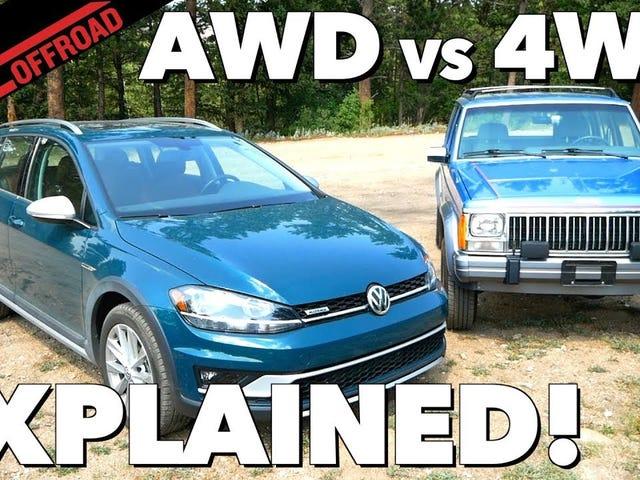 4WD v AWD - ฉันเบื่อคนที่พยายามจะทำงานนี้