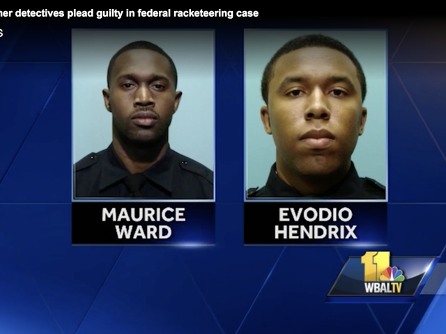 2 Baltimore Cops Plead Guilty in Federal Racketeering Case