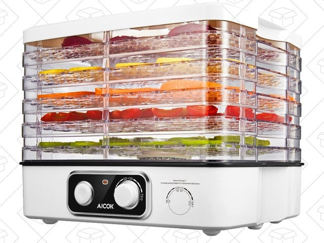 Make DIY Jerky and Dried Veggies With This $36 Countertop Dehydrator