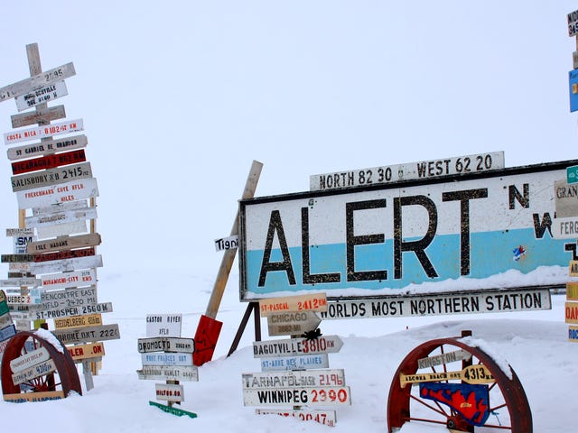El asentamiento más septentrional de la Tierra se quebró 70 grados por primera vez esta semana