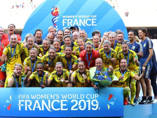 Suède Vaincre l'Angleterre pour la Coupe du Monde féminine en bronze, alors que VAR rejette le but d'Ellen White pour le deuxième match de suite