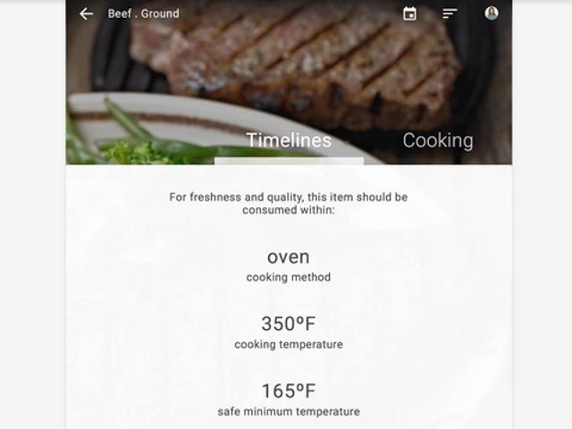 FoodKeeper forteller deg når maten virkelig utløper, sender deg påminnelser