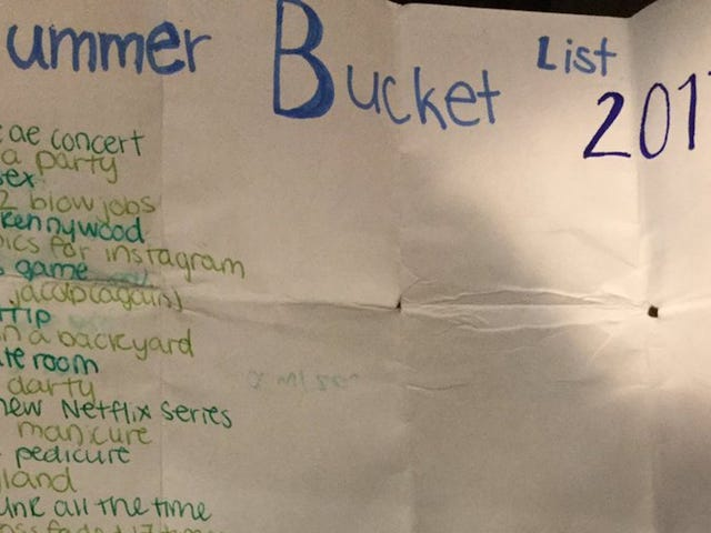 Let This Teen's Summer 2017 Bucket List Inspire You to Live Your Dreams