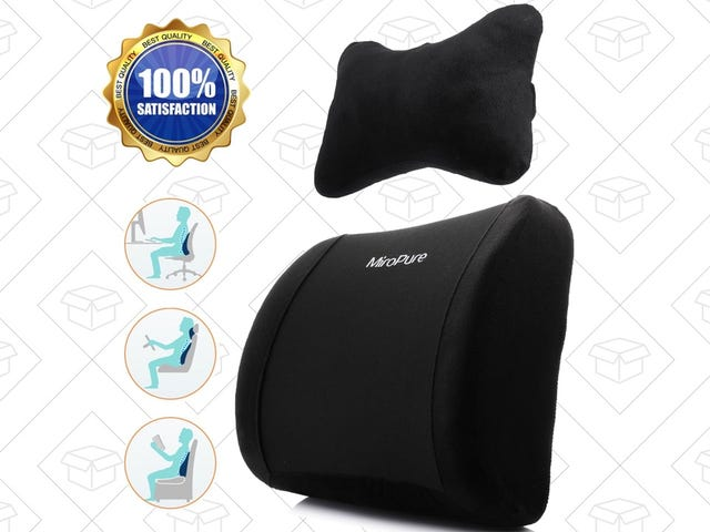 Add Extra Lumbar Support To Any Chair For $15, Plus a Free Neck Pillow