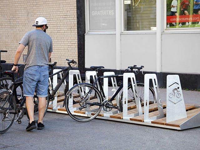 ควิเบกซิตีของใหม่กว่าที่ออกแบบจักรยานชั้นวางค่าใช้จ่ายที่น่าทึ่ง $ 18,000 แต่ละ