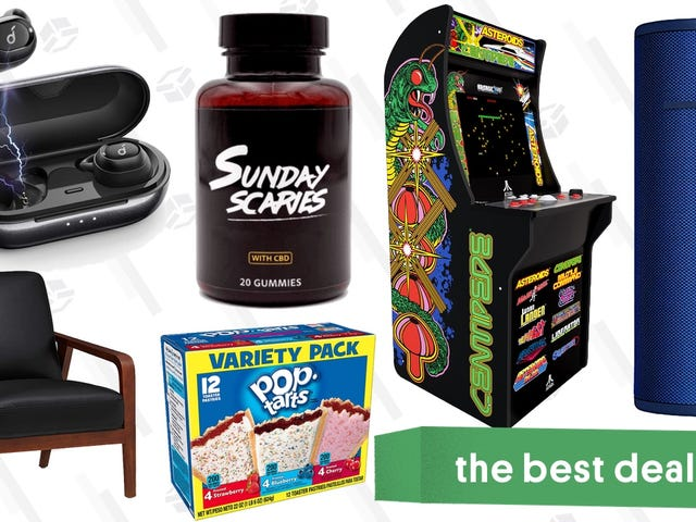 Saturday's Best Deals: Sunday Scaries, Arcade Cabinet, Trendy Furniture, Prime Pantry, and More
