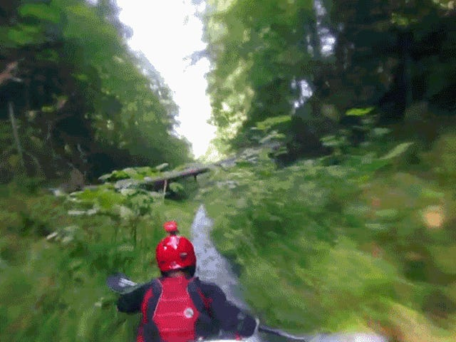 Riding a Kayak Down a Mountain in a Ditch Is Scarier Than a Roller Coaster