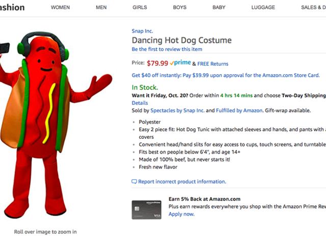 De nieuwste hardware van Snap is een dansend hot dog-kostuum