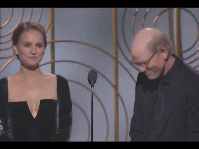 Please enjoy Natalie Portman making the all-male Best Director nominees very uncomfortable