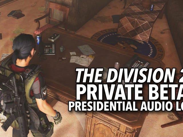 <i>The Division 2</i> : n presidentillä on erilainen huoli Yhdysvaltojen ja Meksikon rajasta