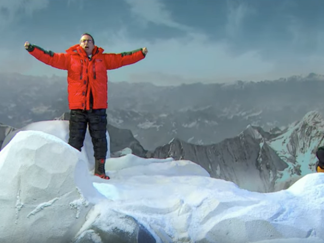 John Oliver skewers the Mt. Everest of empty achievements, scaling Mt. Everest