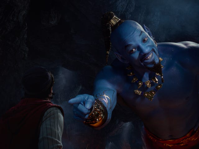 Então Will Smith não canta exatamente em Aladdin, mas funciona