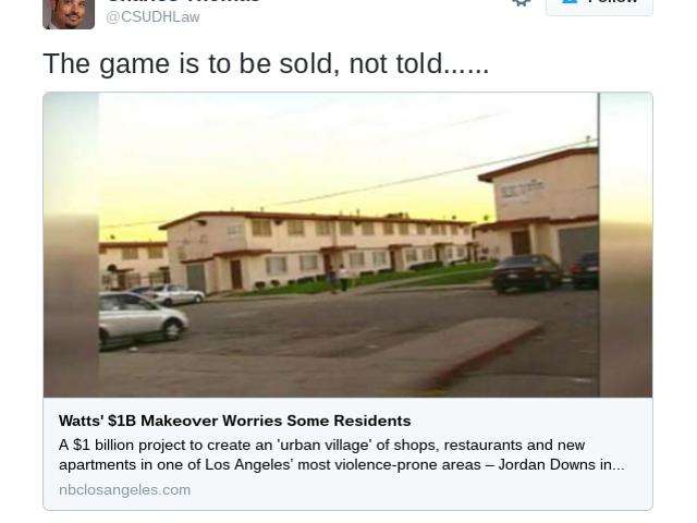 Will the Jordan Downs Redevelopment Turn Watts Into Calif.'s Flint, Mich.?