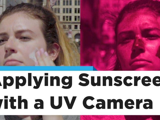 La meilleure façon d'appliquer un écran solaire sur votre visage, révélée par une caméra UV