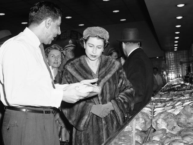 Queen Elizabeth II at the Supermarket