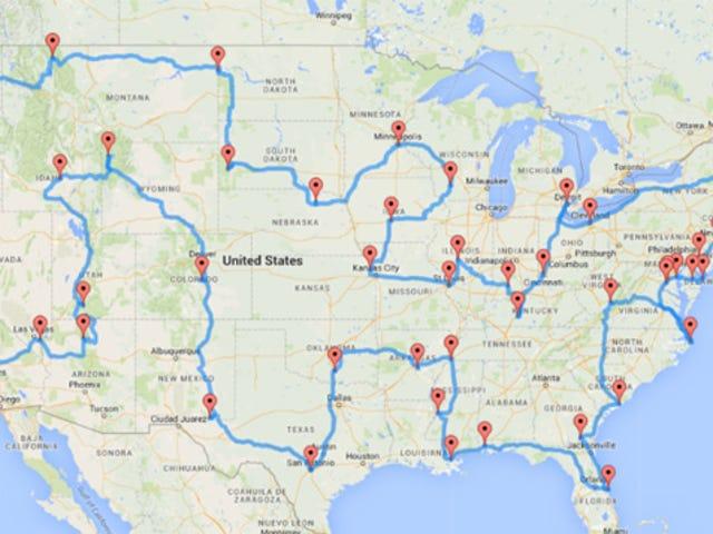 Visite a cidade ou marco superior em todos os estados dos EUA com esses mapas