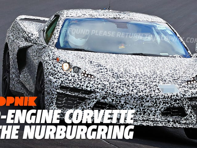Se och hör Mid-Engine 2020 Corvette Kör Nürburgring