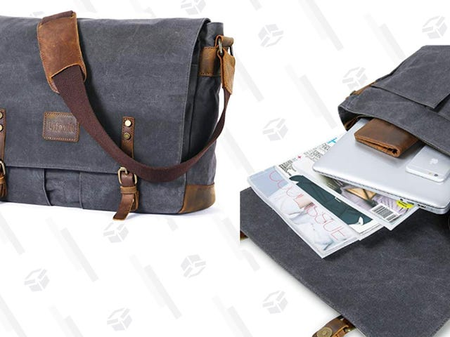 Pack Up Your Laptop In This Canvas $32 Messenger Bag