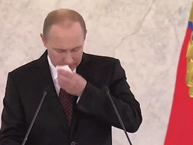 Ang pagsasalita ng Vladimir Putin nang walang pagsasalita at mga tunog ay napakagaling