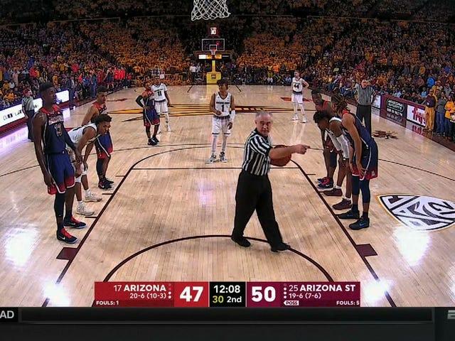 Referee Ejects Arizona Cheerleader